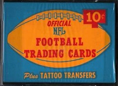 1964 Philadelphia 10 cent football card wrapper