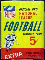 1964 Philadelphia football card wrapper