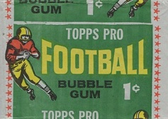 1964 Topps 1 cent football card wrapper