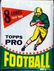 1964 Topps football card wrapper
