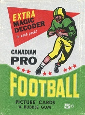 1964 Topps CFL football card wrapper
