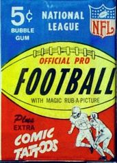 1965 Philadelphia football card wrapper