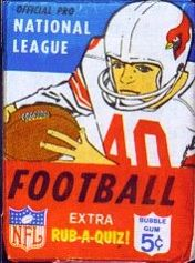 1967 Philadelphia football card wrapper