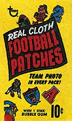 1968 Topps Test Team Patches football card wrapper