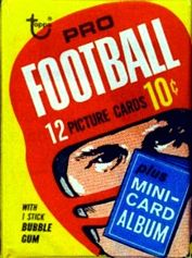 1969 Topps football card wrapper