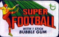 1970 Topps Super football card wrapper