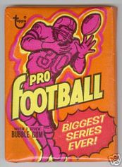 1973 Topps football card wrapper