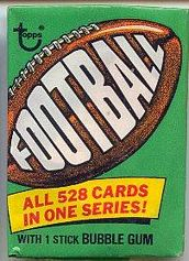1974 Topps football card wrapper