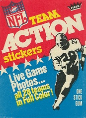 1976 Fleer Team Action football card wrapper