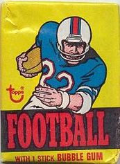 1976 Topps football card wrapper