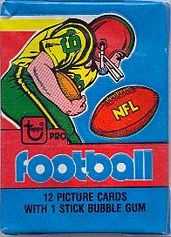 1979 Topps football card wrapper
