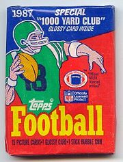 1987 Topps football card wrapper