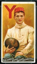 Henry Beecher 1888 Goodwin Champions football card
