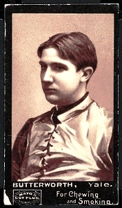 Frank Butterworth 1894 Mayo Cut Plug football card