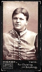 William Hickok 1894 Mayo Cut Plug football card