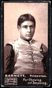 H.W. Barnett 1894 Mayo Cut Plug football card