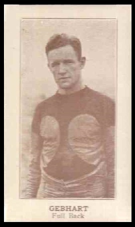Louis Gebhard 1924 Lafayette football card