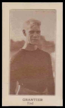 Charles Grantier 1924 Lafayette football card