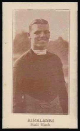 Frank Kirkleski 1924 Lafayette football card