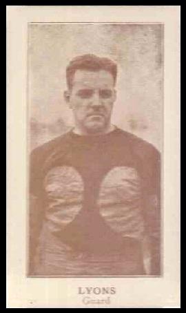 Daniel Lyons 1924 Lafayette football card