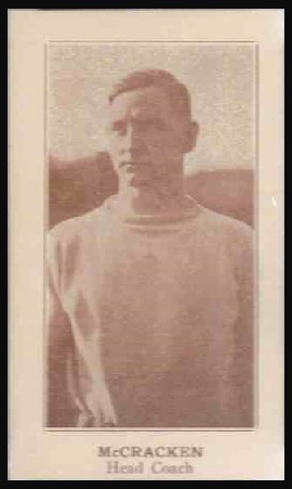 Herb McCracken 1924 Lafayette football card