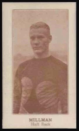 Bob Millman 1924 Lafayette football card