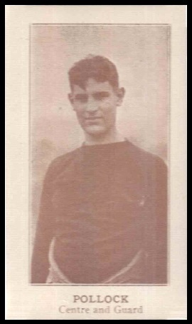 Sheldon Pollock 1924 Lafayette football card