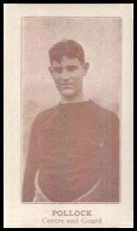 Sheldon Pollock 1924 Lafayette football card
