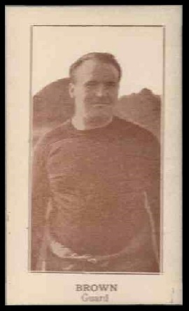 William Brown 1924 Lafayette football card