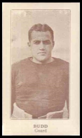 Johnny Budd 1924 Lafayette football card