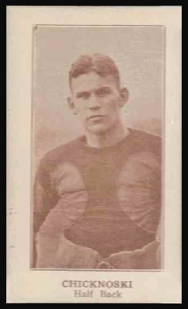 Frank Chicknoski 1924 Lafayette football card