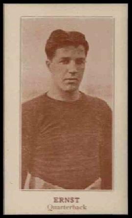 Jack Ernst 1924 Lafayette football card