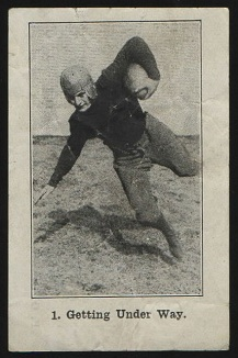 Getting Under Way 1926 Shotwell Red Grange Ad Back football card