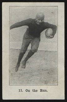 On the Run 1926 Shotwell Red Grange Ad Back football card