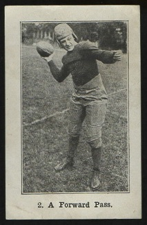 A Forward Pass 1926 Shotwell Red Grange Ad Back football card