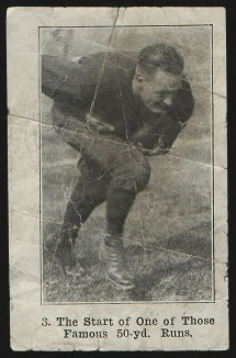 The Start of One of Those Famous 50-yd. Runs 1926 Shotwell Red Grange Ad Back football card