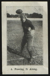 Passing It Along 1926 Shotwell Red Grange Ad Back football card