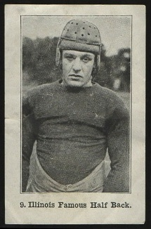 Illinois Famous Half Back 1926 Shotwell Red Grange Ad Back football card