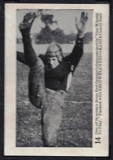 Red Grange 1926 Shotwell Red Grange Blank Back football card