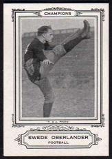 Swede Oberlander 1926 Spalding Champions football card
