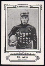 Ed Weir 1926 Spalding Champions football card