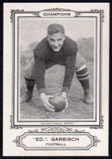 Ed Garbisch 1926 Spalding Champions football card