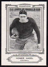 Homer Hazel 1926 Spalding Champions football card