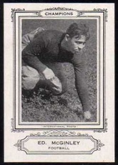 Ed McGinley 1926 Spalding Champions football card