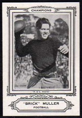 Brick Muller 1926 Spalding Champions football card