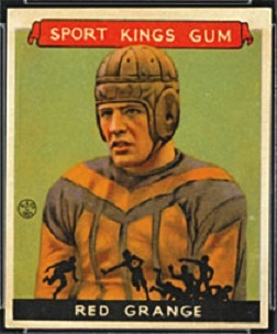 Red Grange 1933 Sport Kings football card