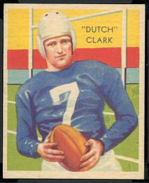 Dutch Clark 1935 National Chicle football card
