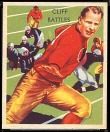 Cliff Battles 1935 National Chicle football card