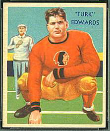 Turk Edwards 1935 National Chicle football card