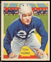 Tom Hupke 1935 National Chicle football card